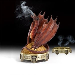 The Noble Collection Smaug Brûleur d'Encens Le Hobbit La Désolation Figurine, 849241002707, Rot