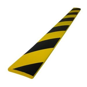 Viso 1 mousse de protection 3/4 rond noire et jaune 75 cm 75 PU4025NJ
