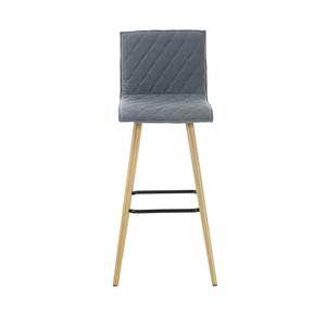 Zago 2x Chaises de bar feutre gris clair Cara