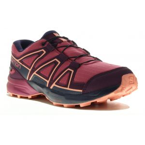 Salomon Chaussures Speedcross Cswp Junior - Malaga / Potent Purple / Desert Flower - Taille EU 37