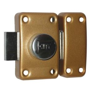 Iseo France 10020451 - Verrou City 25 à bouton bronzé or  45 mm