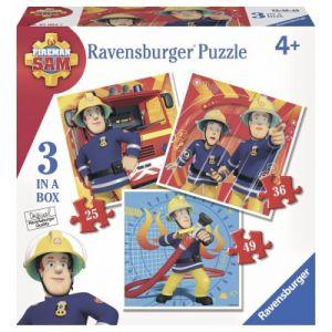 Ravensburger 3 puzzles Sam le pompier 25, 36 et 49 pièces