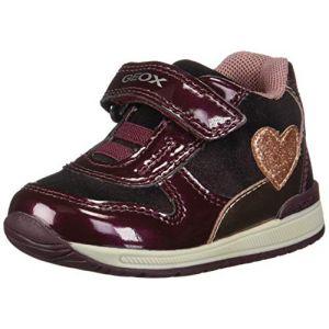 Geox B Rishon B, Sneakers Basses bébé Fille, Rouge (Bordeaux/Pink C0500), 22 EU