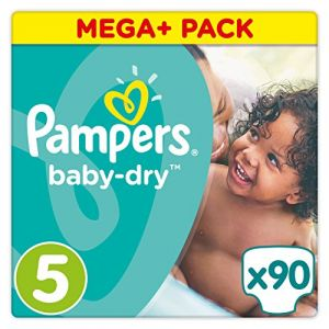 Pampers Baby Dry taille 5 Junior (11-25 kg) - Mega Plus Pack 90 couches