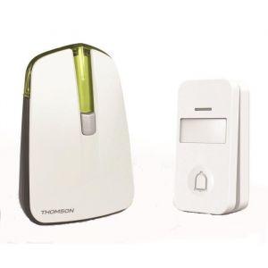 Thomson Sonnette sans fil 150m avec bouton sans fil, sans pile - Vert -