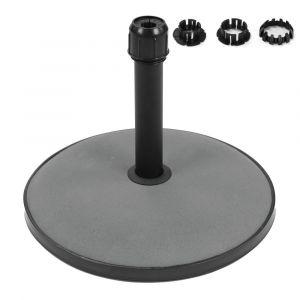 Lynco Pied de parasol 15KG. Ciment GRIS 45 X 45 X 27 cm
