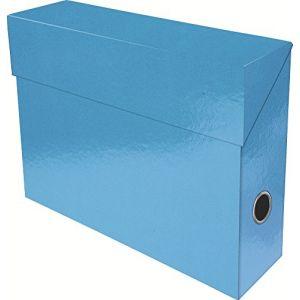 Exacompta 89927E - Boîte transfert IDERAMA, carte pelliculée, dos de 90, coloris bleu clair