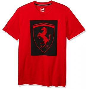 Puma T-shirt Ferrari Big Shield Tee F1 rouge - Taille EU S,EU L