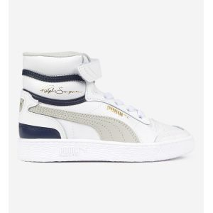 Puma Ralph Sampson Blanche Et Bleue Enfant 33 Baskets
