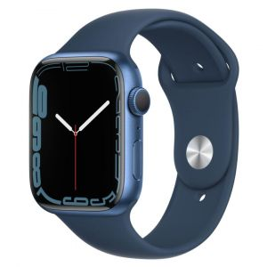 Apple Watch Series 7 GPS Aluminium Bleu Abysse Bracelet Sport 45 mm