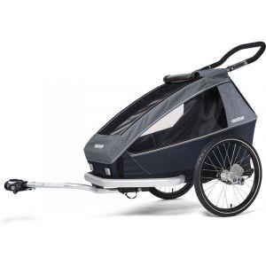 Croozer Kid Vaaya 1 Remorque enfant, graphite blue Remorques vélo enfant
