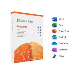Logiciel Abonnement 365 Personnel (12 mois - 1 utilisateurs) | version boite [Windows]