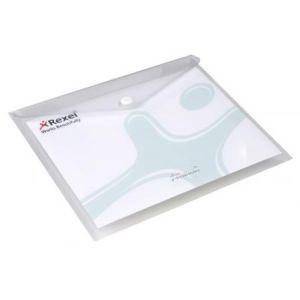 Rexel 2101658 - Chemise à poche ICE, A5 paysage, polypro, transparent