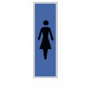 Novap Plaquette signalétique en plexiglass - 170 x 40 mm - Idéogramme femme