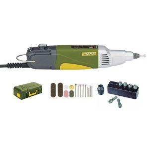 Proxxon micromot IBS/E - Perceuse-fraiseuse industrielle 100W livrée avec 6 pinces de 1 à 3,2 mm + coffret 34 outils