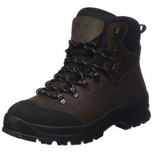Aigle Chaussure haute de loisir cuir pleine fleur homme Laforse MTD marron taille 43