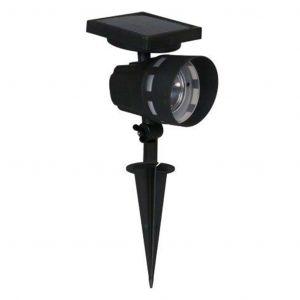 Luxform Spot solaire Saint Malo noir 11x12,5x39,5 cm à LED blanc chaud