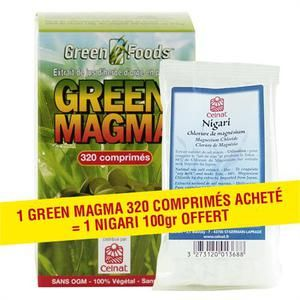 Celnat Green Magma - Jus d'herbe et d'orge 320 comprimés
