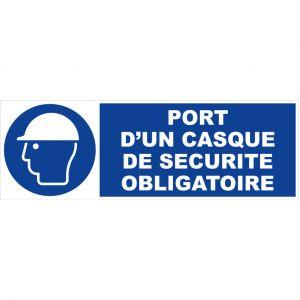Novap Panneau Port d'un casque de sécurité obligatoire - Rigide 450x150mm - 4030623