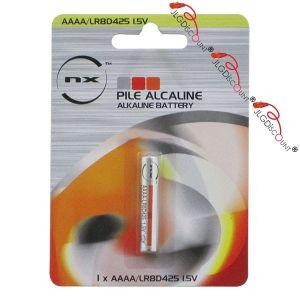 NX Batterie Pile alcaline blister LR61 AAAA 1.5V 625mAh