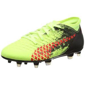 Puma Future 18.4 FG/AG Jr, Chaussures de Football Mixte Enfant, Jaune (Fizzy Yellow-Red Blast Black), 37 EU