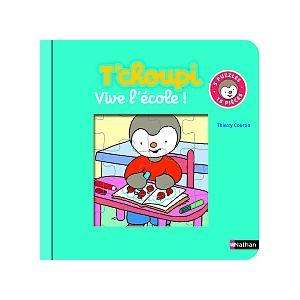 Diset Livre puzzle T'choupi vive l'école 16 pièces