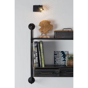 loftscape Applique murale spot orientable en métal noir Sandy