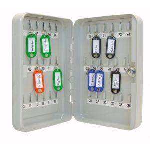Wedo 102 53637X - Armoire à clés pour 36 clés, gris-lumière, plate