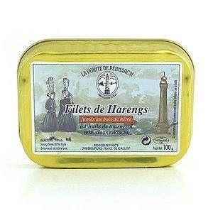 La Pointe de Penmarc'h Filets de harengs goût fumé à l'huile de tournesol 100 grs