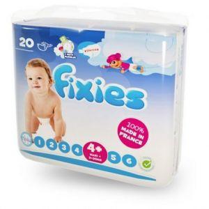 Fixies Couches bébé taille 4+ Maxi+ 7-18 kg - paquet de 132