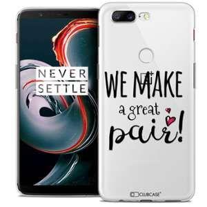CaseInk Coque OnePlus 5T (6 ) Extra Fine Love We Make Great Pair
