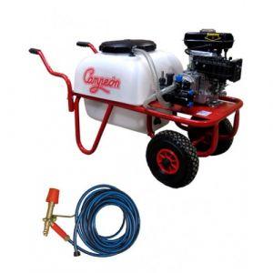 Campeon Pulvérisateur thermique 2,5 CV 50 litres sur chariot à roues pneumatiques