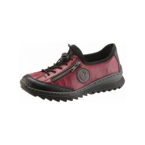 Rieker M6269-00, Sneakers Basses Femme, Rouge Wine Schwarz/Dust 00, 41 EU