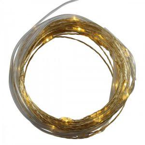 Guirlande (6m) dorée 60 LED + Télécommande (secteur)