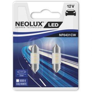 Neolux Ampoule navette LED SV8,5-8 blanc froid 12 V