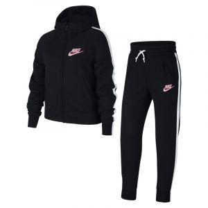 Nike Survêtement Sportswear pour Fille plus âgée - Noir - Couleur Noir/blanc/rose - Taille L
