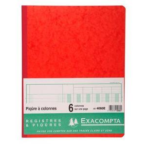 Exacompta Registre 6 colonnes 80 pages (250 x 320 mm)