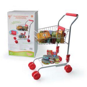 Qweenie Home Chariot supermarché en métal