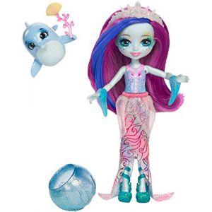Mattel Enchantimals - Mini-poupée cheveux magiques et Dauphin