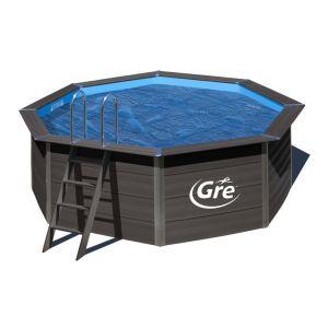 Gre Bâche à bulles pour piscine composite octogonale 6,64 x 3,86 m