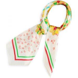 Allée du foulard Echarpe Carré de soie Philemon BLANC blanc - Taille Unique