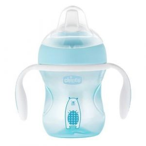 Chicco Tasse Transition bec souple silicone x1 bleu 4m+