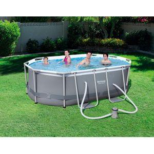 Bestway Power Steel Frame Pools ovale PVC 300x200x84 cm