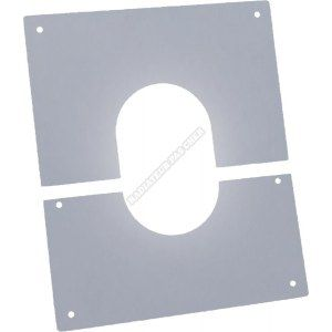 Poujoulat Plaque de propreté PGI , pente 0-10°, diamètre 80/130 mm Réf. PPI 0/10° 80PGI / 37080425