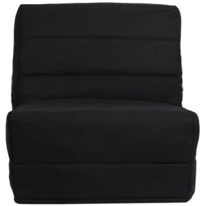 ROMA Banquette convertible BZ 1 place Tissu noir Contemporain L 80 x P 96 cm