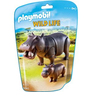 Playmobil 6945 Wild Life - Hippopotame et son petit