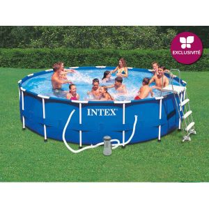 Intex 28232 - Piscine tubulaire ronde 4,57 x 0,91 m