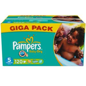 Pampers baby dry taille 5 junior 11 25 kg giga pack x 120 couches comparer avec - Comparateur de prix couches pampers ...