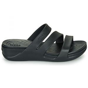 Crocs Mules Monterey Wedge W Noir - Taille 36 / 37,38 / 39,42 / 43,37 / 38,39 / 40,41 / 42