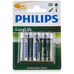 Philips Longlife pack de 4 piles LR06 type AA
